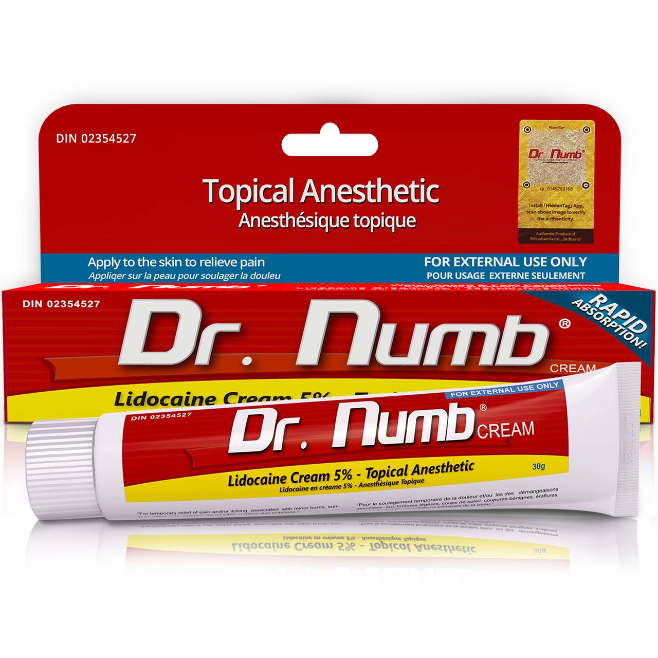Dr. Numb® 5% Topical Anesthetic Cream – 30 gram – ( DIN ...