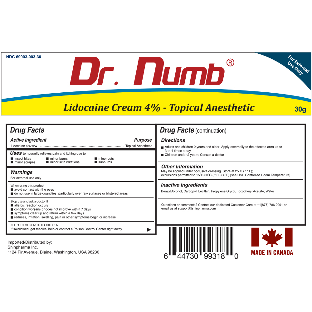 07. Dr. Numb 4% 30g Drag facts NDC
