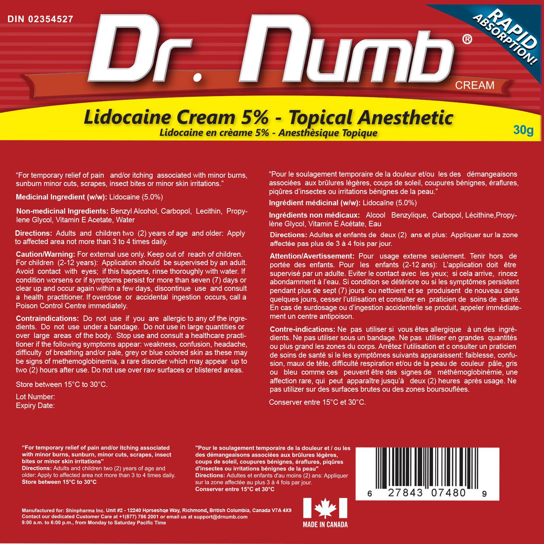 07. Dr. Numb 5% 30g Drag Facts DIN