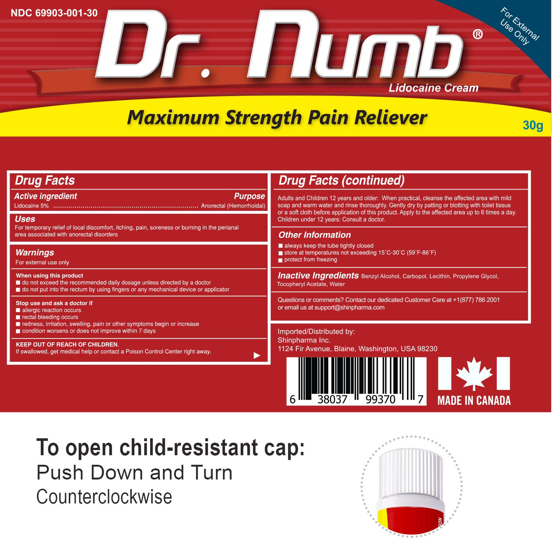 07. Dr. Numb 5% 30g Drag Facts V-2 NDC