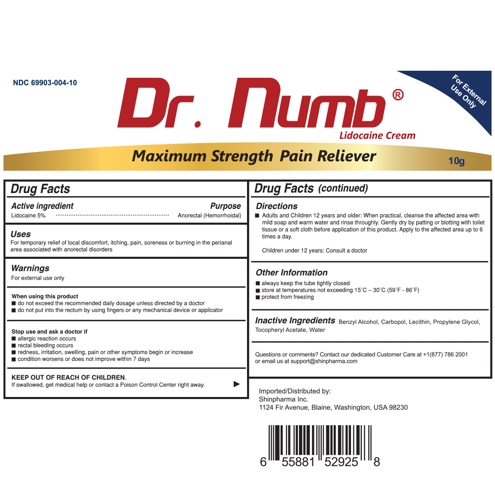 08. Dr. Numb 5% 10g Drag Facts NDC